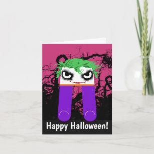 Halloween joker cards zazzle halloween joker greeting card m4hsunfo