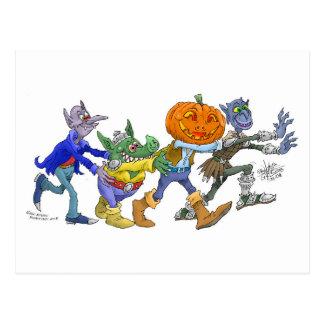 Halloween joy. postcard