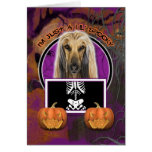Halloween - Just a Lil Spooky - Afghan Greeting Cards