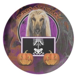 Halloween - Just a Lil Spooky - Afghan Melamine Plate