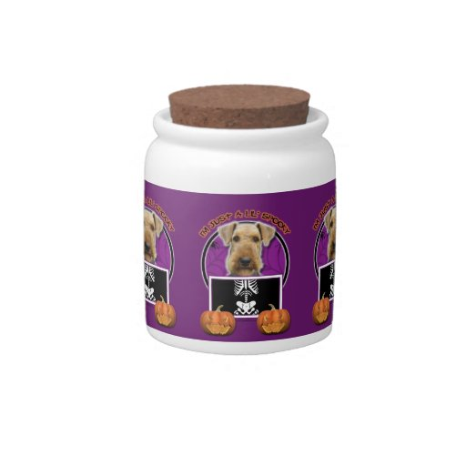 Halloween - Just a Lil Spooky - Airedale Candy Jar