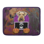 Halloween - Just a Lil Spooky - Airedale Sleeve For MacBooks