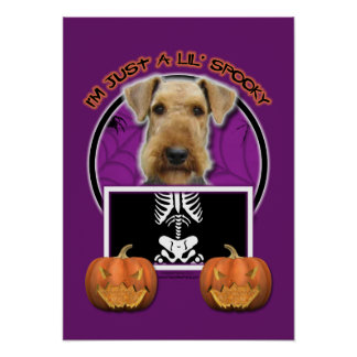 Halloween - Just a Lil Spooky - Airedale Poster