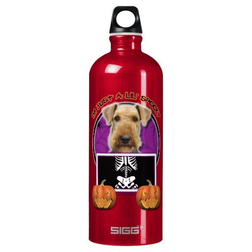 Halloween - Just a Lil Spooky - Airedale SIGG Traveler 1.0L Water Bottle