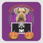 Halloween - Just a Lil Spooky - Airedale Square Sticker