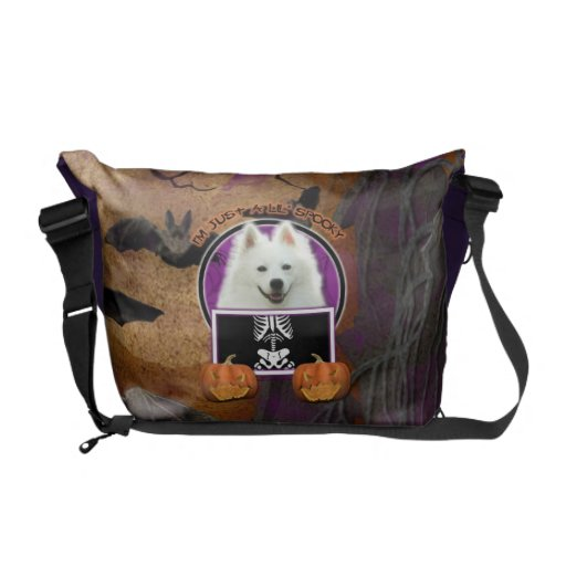 Halloween - Just a Lil Spooky - American Eskimo Messenger Bags
