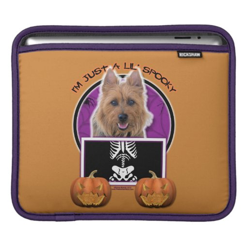 Halloween - Just a Lil Spooky - Australian Terrier Sleeves For iPads