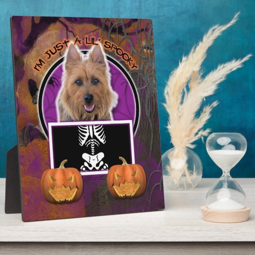 Halloween - Just a Lil Spooky - Australian Terrier Photo Plaques