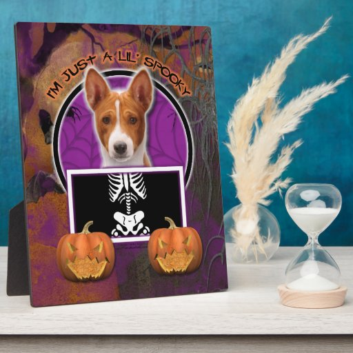 Halloween - Just a Lil Spooky - Basenji Display Plaques