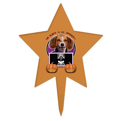 Halloween - Just a Lil Spooky - Beagle Star Cake Topper