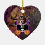 Halloween - Just a Lil Spooky - Beagle Christmas Ornaments