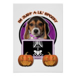 Halloween - Just a Lil Spooky - Beagle Puppy Posters