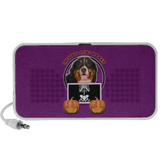Halloween -Just a Lil Spooky -Bernese Mountain Dog Notebook Speakers
