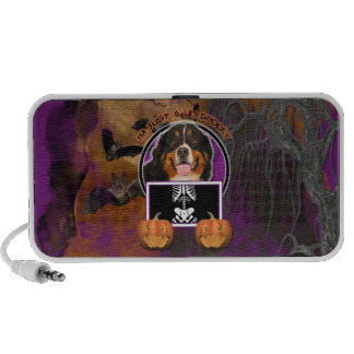 Halloween -Just a Lil Spooky -Bernese Mountain Dog Laptop Speakers