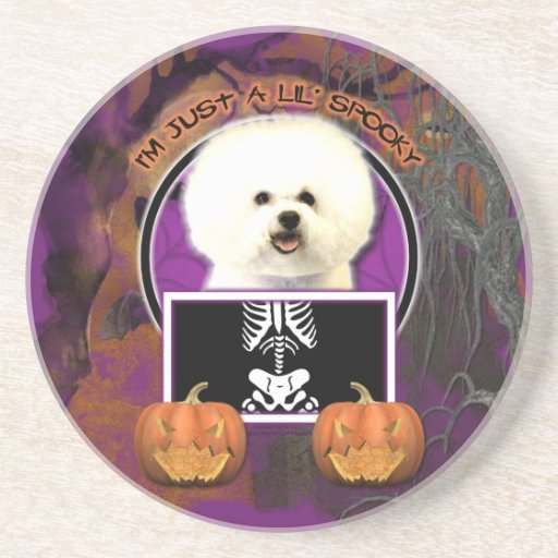 Halloween - Just a Lil Spooky - Bichon Frise Coasters