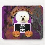 Halloween - Just a Lil Spooky - Bichon Frise Mousepad