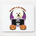 Halloween - Just a Lil Spooky - Bichon Frise Mouse Pads