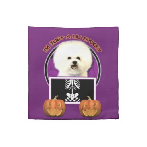 Halloween - Just a Lil Spooky - Bichon Frise Cloth Napkin