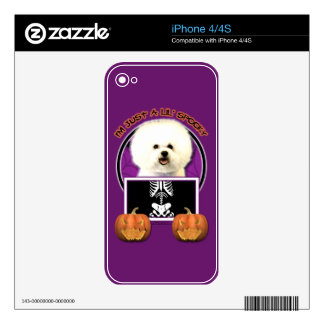 Halloween - Just a Lil Spooky - Bichon Frise Decal For The iPhone 4