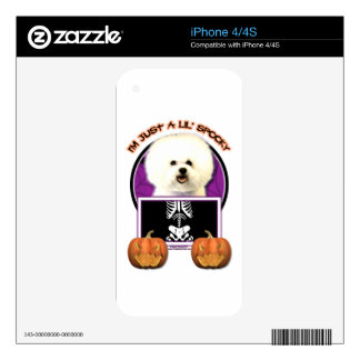 Halloween - Just a Lil Spooky - Bichon Frise Decals For iPhone 4S