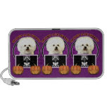 Halloween - Just a Lil Spooky - Bichon Frise Speaker System