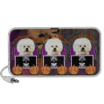 Halloween - Just a Lil Spooky - Bichon Frise Mp3 Speakers
