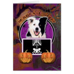 Halloween - Just a Lil Spooky - Border Collie Greeting Card