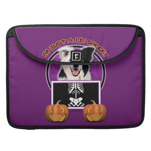 Halloween - Just a Lil Spooky - Border Collie MacBook Pro Sleeves