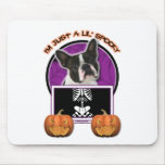 Halloween - Just a Lil Spooky - Boston Terrier Mouse Pad