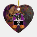 Halloween - Just a Lil Spooky - Boston Terrier Christmas Ornaments