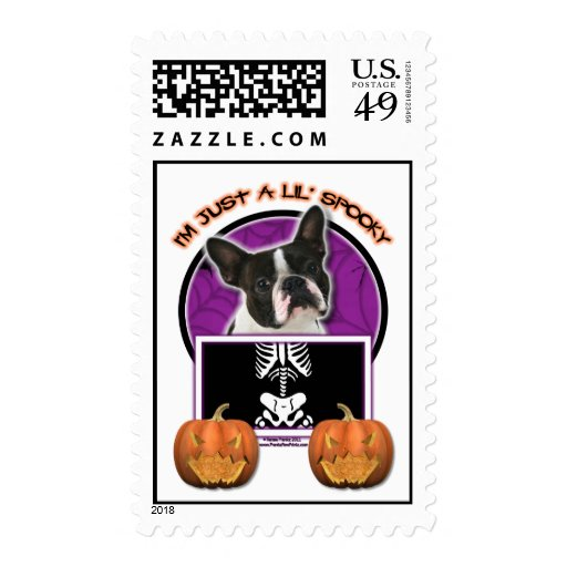 Halloween - Just a Lil Spooky - Boston Terrier Stamps