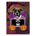 Halloween - Just a Lil Spooky - Boxer - Vindy Greeting Card