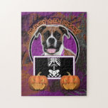 Halloween - Just a Lil Spooky - Boxer - Vindy Jigsaw Puzzle