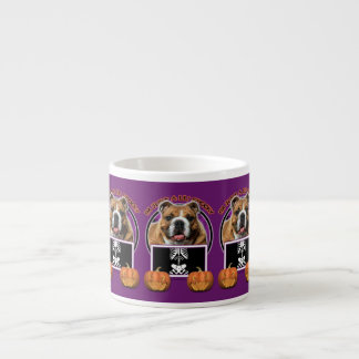 Halloween - Just a Lil Spooky - Bulldog 6 Oz Ceramic Espresso Cup