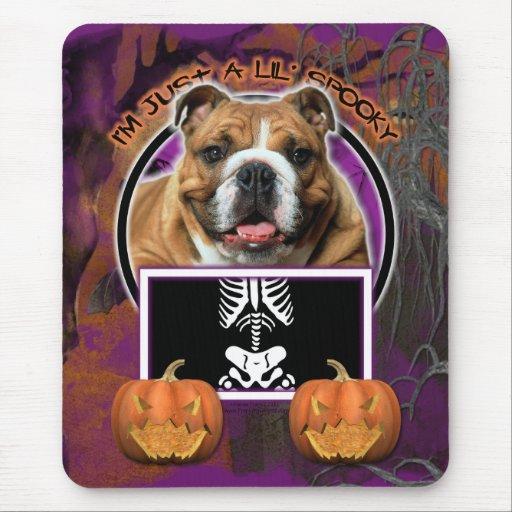 Halloween - Just a Lil Spooky - Bulldog Mousepad