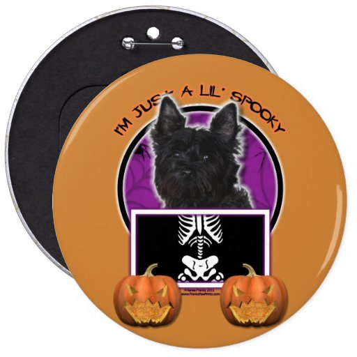 Halloween - Just a Lil Spooky - Cairn - Rosco 6 Inch Round Button