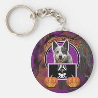 Halloween - Just a Lil Spooky - Cattle Dog Key Chain