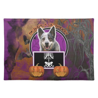 Halloween - Just a Lil Spooky - Cattle Dog Place Mats