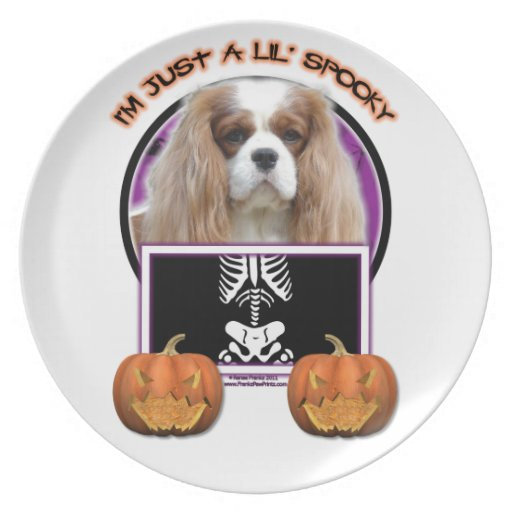 Halloween - Just a Lil Spooky - Cavalier - Blenhei Party Plate