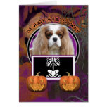 Halloween - Just a Lil Spooky - Cavalier -Blenheim Greeting Card