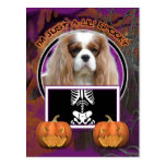 Halloween - Just a Lil Spooky - Cavalier -Blenheim Postcard