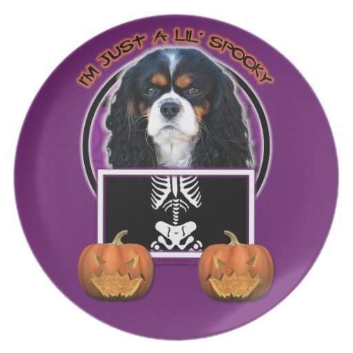 Halloween - Just a Lil Spooky - Cavalier - Tri-col Party Plates