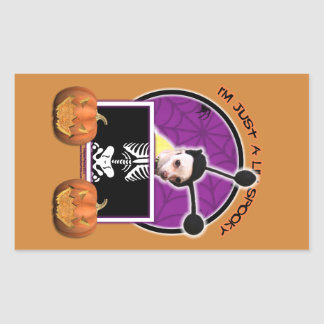 Halloween - Just a Lil Spooky - Cheagle - Izzy Rectangular Stickers