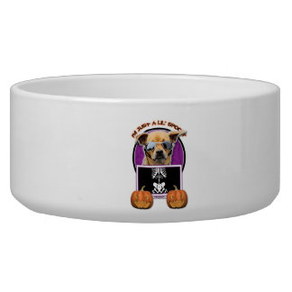 Halloween - Just a Lil Spooky - Chihuahua Pet Bowls