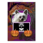 Halloween - Just a Lil Spooky - Chinese Crested Greeting Card