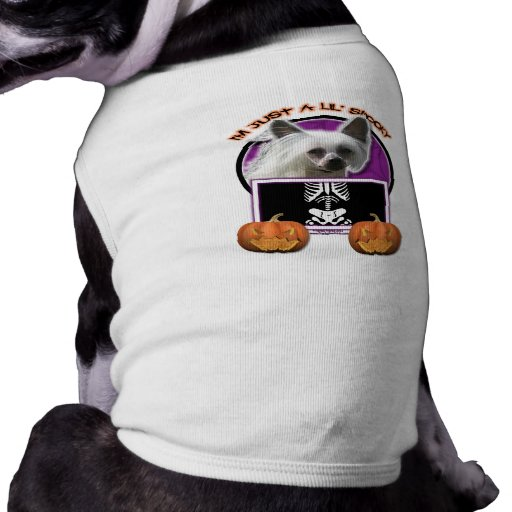 Halloween - Just a Lil Spooky - Chinese Crested Pet Shirt