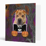 Halloween - Just a Lil Spooky - Chinese Shar Pei Binders