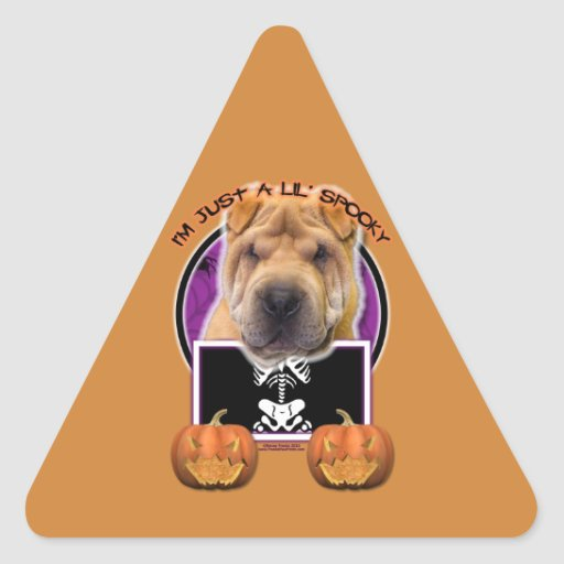 Halloween - Just a Lil Spooky - Chinese Shar Pei Sticker