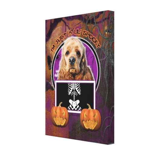 Halloween - Just a Lil Spooky - Cocker Spaniel Canvas Print