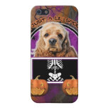 Halloween - Just a Lil Spooky - Cocker Spaniel iPhone 5 Covers